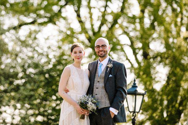 Heaton House Farm with the Bride and Groom