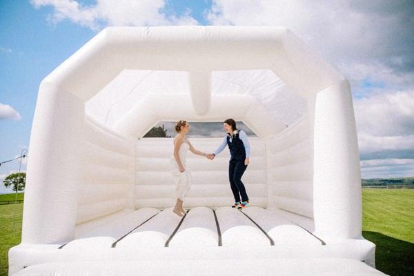 wedding bouncy castle with same sex wedding
