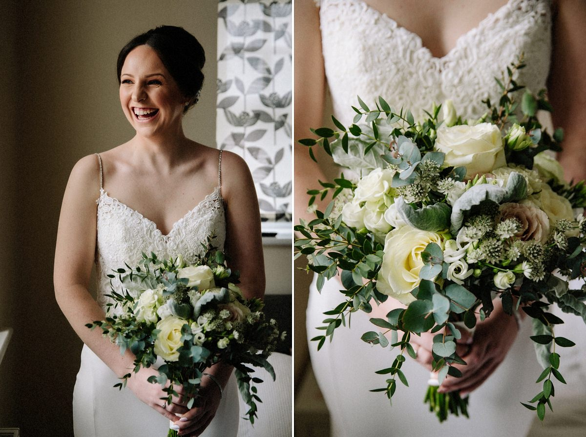 Bride and her gorgeous floral bouquet