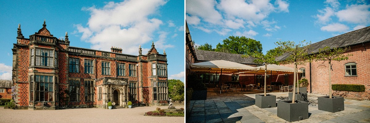 Overview of Arley Hall & Gardens and the courtyard