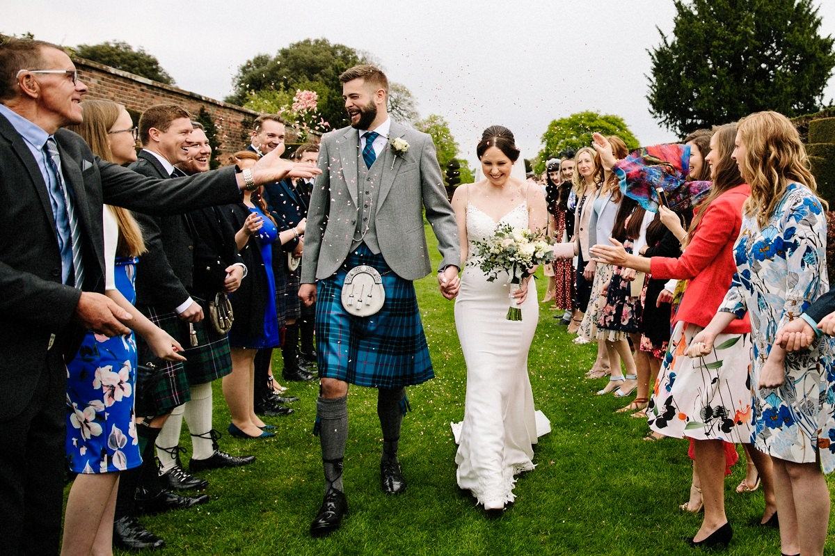 Natural wedding photography with the bride and groom