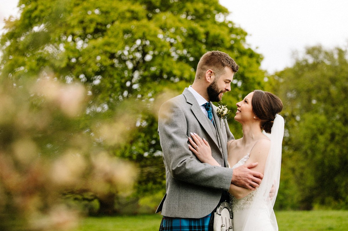 Gorgeous natural photography with the bride and groom at Arley Hall