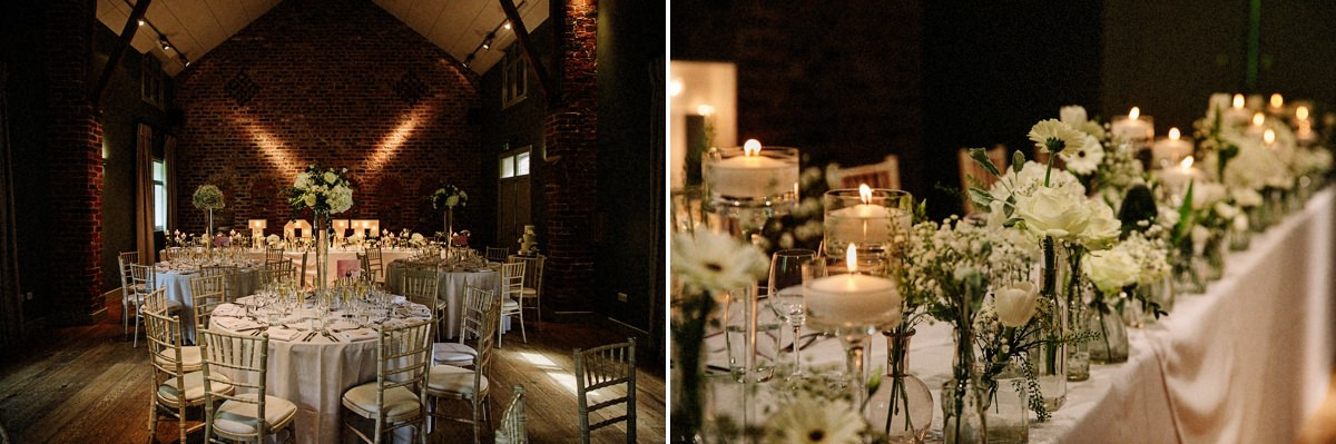 The stunning wedding breakfast Olympia room at Arley Hall and gardens