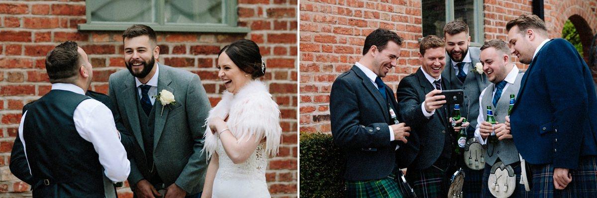 Fun reception photo natural moments