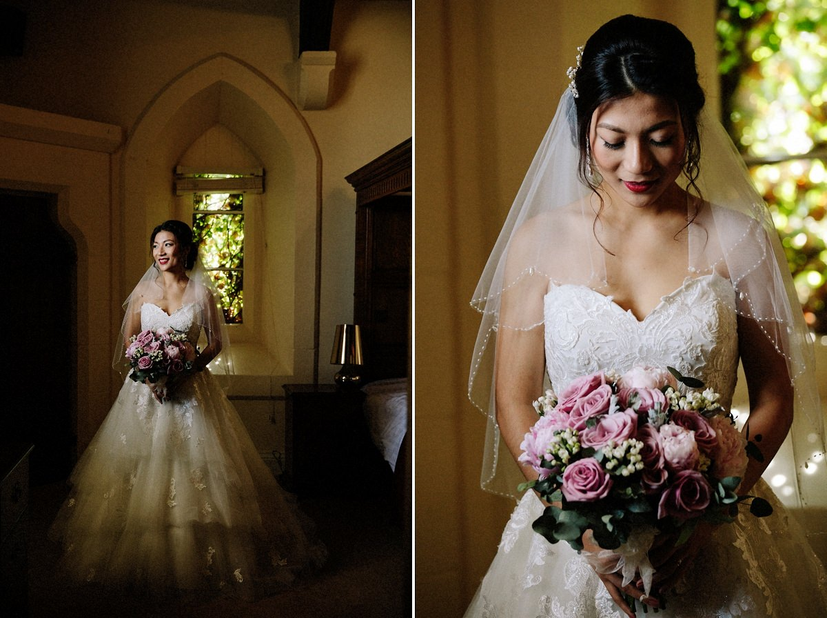 Gorgeous bride about to get married