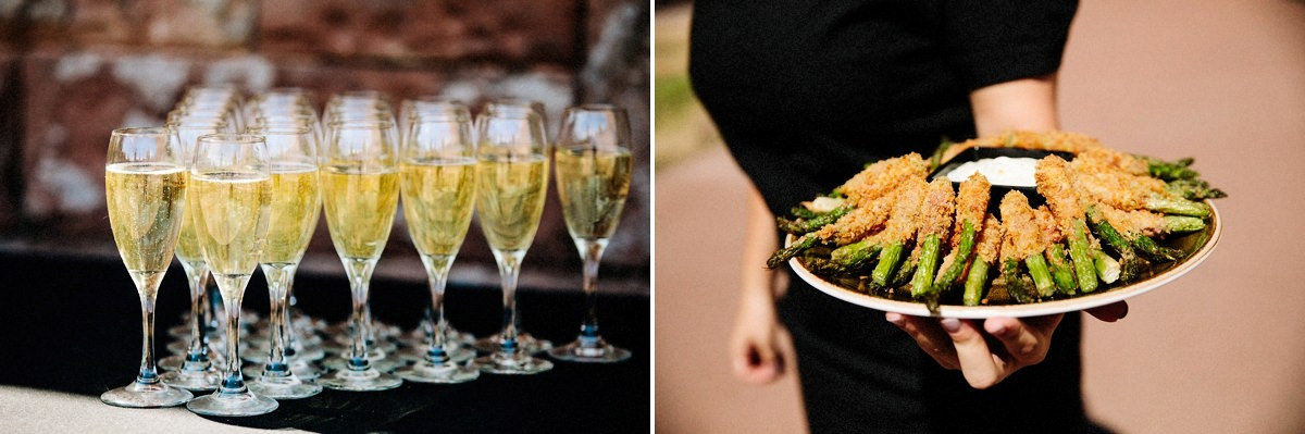 Champagne and canapés at Peckforton Castle